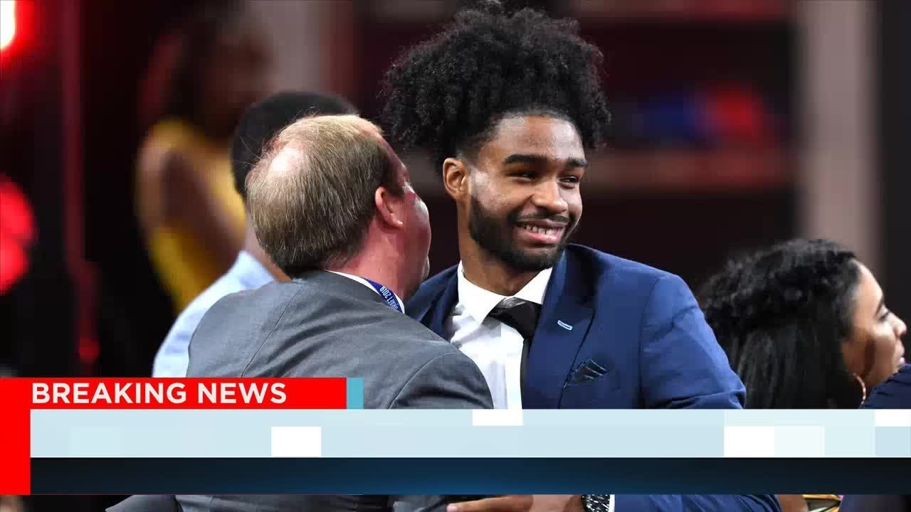 Coby White had a priceless reaction to UNC teammate Cam Johnson getting drafted
