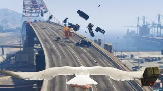GTA 5 - Seagull Drops Nukes over Los Santos