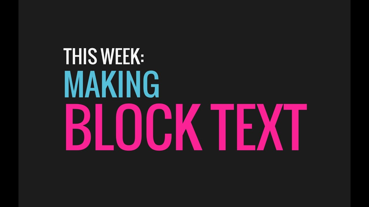 "60 Sec. PowerPoint ProTip » Getting the ""block text"" effect"