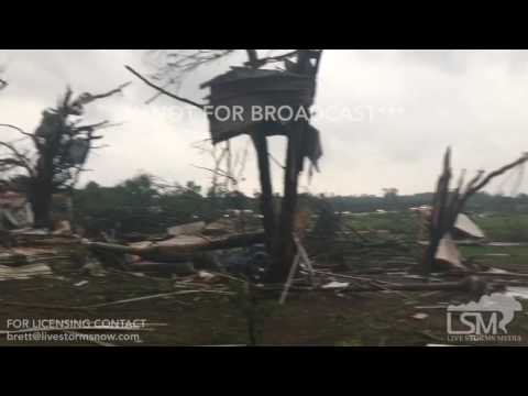 04-29-2017 Canton, TX Moments After Destructive Tornado