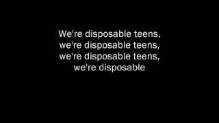 Disposable Teens - Marilyn Manson w/lyrics