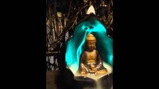 Đốt trầm thác khói tượng A Di Đà có đèn Led
