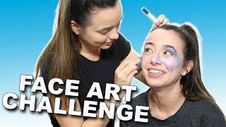Face Art Challenge - Merrell Twins