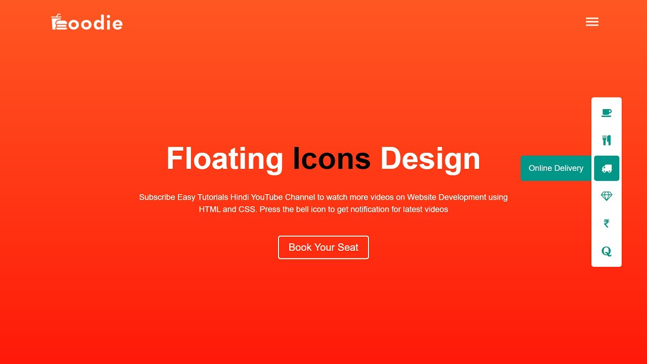 How To Make Sidebar Icons on Website Using HTML and CSS