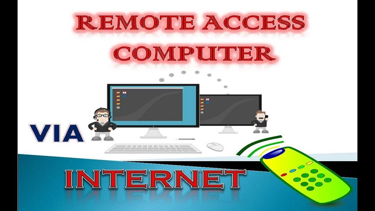 Remote computer. Remote access to a computer via the Internet