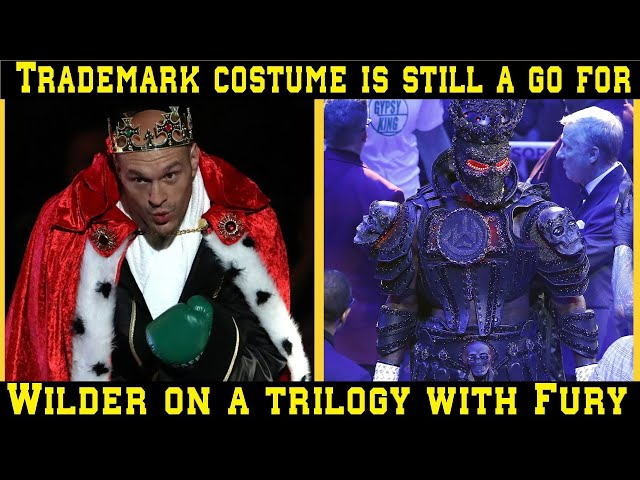 Trademark costume is still a go for Deontay Wilder on a trilogy with Tyson Fury