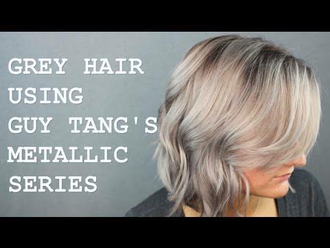 grey hair tutorial using guy tang s favorites kenra metallic youtube