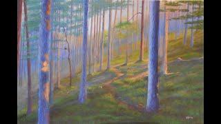 Acrylic Painting, Autumn Forest, EoghanArt (2019)