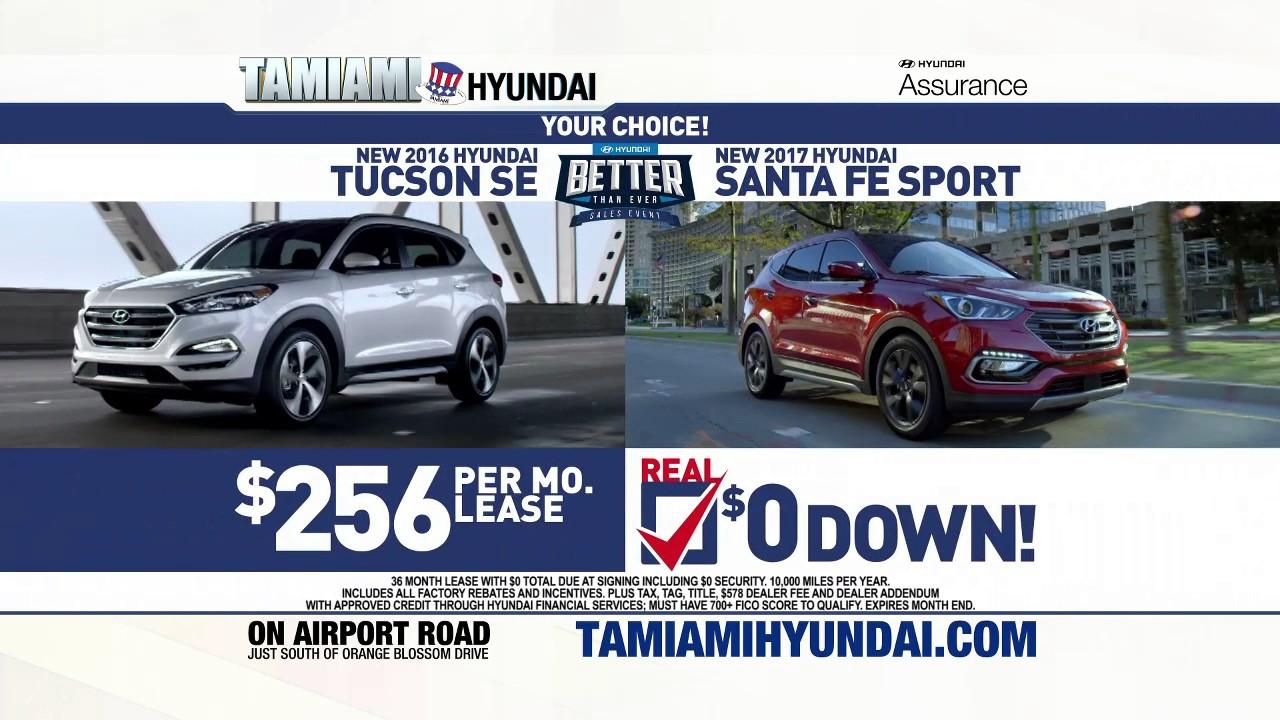 Real $0 Down Deals at Tamiami Hyundai - YouTube