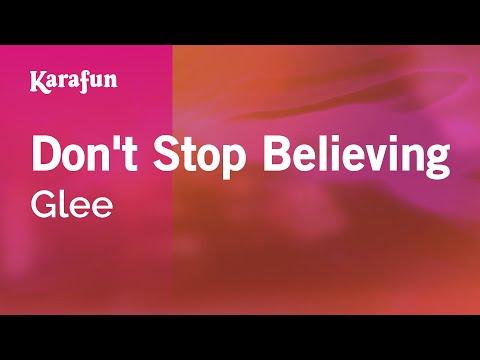Karaoke Dont Stop Believing  Glee *