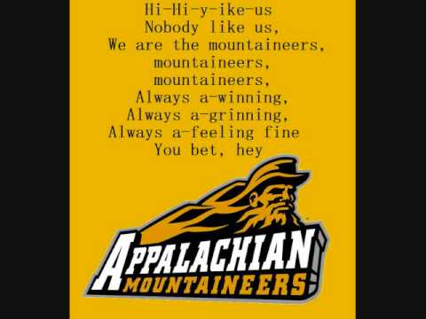 Appalachian State Mountaineers Fight Song