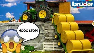 BRUDER Spielzeug BALWRAPPER Absturz! | Aktionsvideo für Kinder | Toyz-Regel