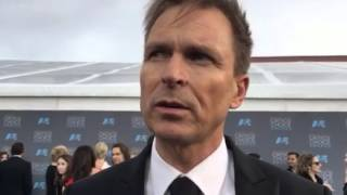Phil Keoghan ('The Amazing Race') on the 2016 Critics' Choice Awards red carpet