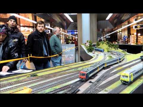 Trafic ferroviaire miniature à TransExpo, Genève-Aéroport. Le 23.11.2013.