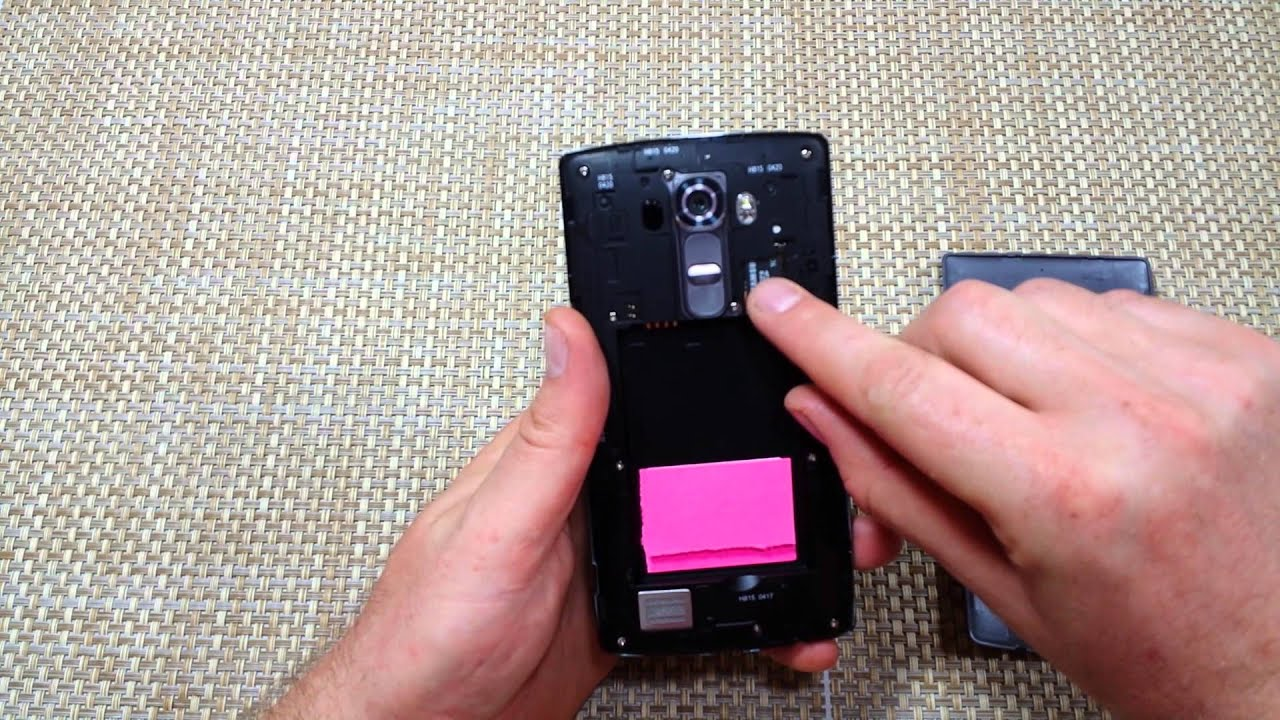 LG G4 How to Remove Replace Insert Sim Card & Memory Card Micro SD Battery  & Cover