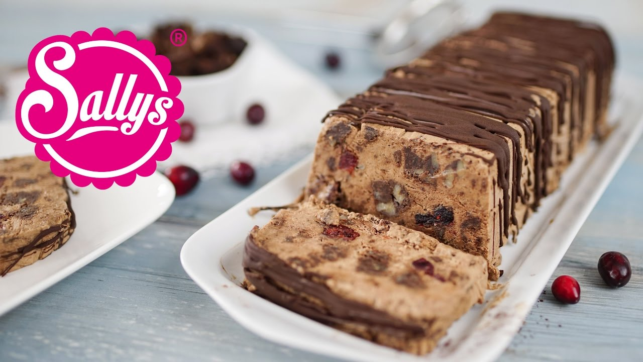 schokoladenparfait mit brownies eis dessert youtube. Black Bedroom Furniture Sets. Home Design Ideas