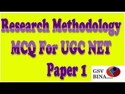Research methodology MCQ for UGC NET Paper 1 (RM MCQ) - YouTube
