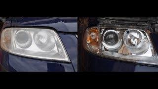 Восстановления фар Volkswagen Passat B5 с помощью лака Delta Kits Infinity