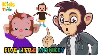 Five Little Monkeys Jumping on the Bed Song for Kids | KIDS Playtime Nursery Rhymes & Kids Songs