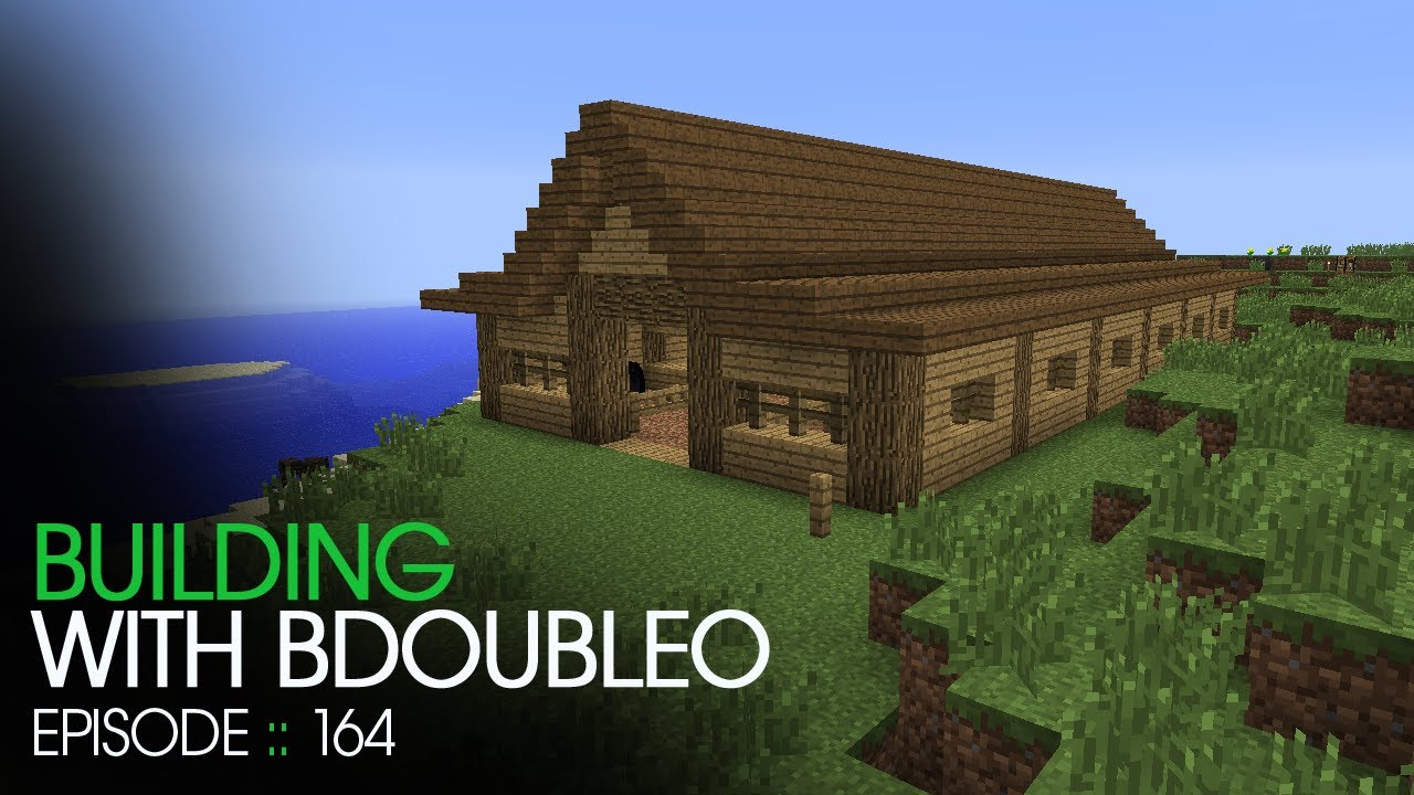 Minecraft building with bdoubleo episode 164 horse for How to build horse barn