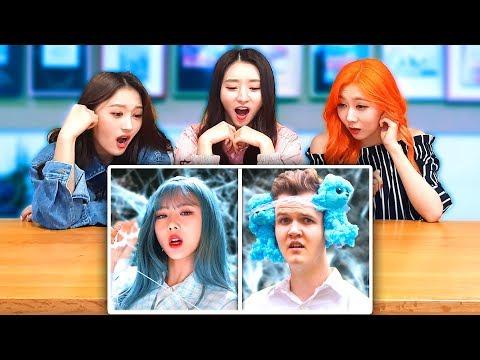 K-POP IDOLS DREAMCATCHER REACT TO 'DREAMCATCHER WITH ZERO BUDGET'! | LankyBox