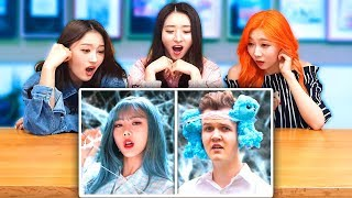 K-POP IDOLS DREAMCATCHER REACT TO 'DREAMCATCHER WITH ZERO BUDGET'! | LankyBox Video