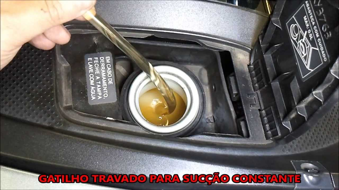 Drenagem do reservatório de gasolina do motor flex NISSAN ...