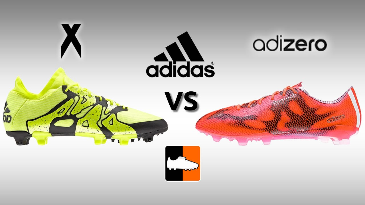 best sneakers 77ff5 80079 adidas X 15.1 vs. 2015 F50 adiZero - Speed Boot Comparison