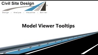 Civil Site Design - Tooltips in Model Viewer