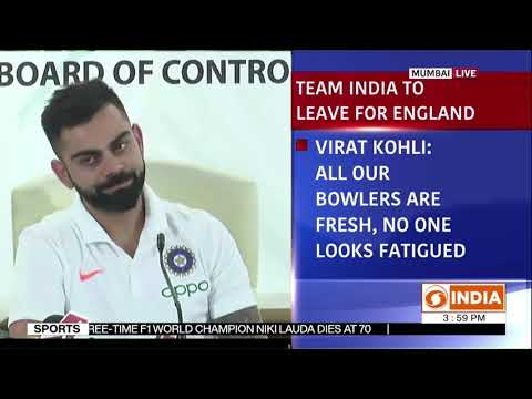 Indian Cricket team Captain Virat Kohli addresses press conference ahead of World Cup tournament