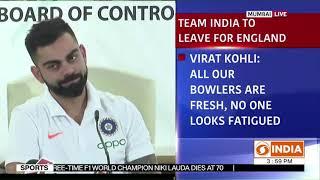 Indian Cricket team Captain Virat Kohli addresses press conference ahead of World Cup tournament