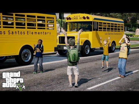 GTA 5 REAL LIFE CHILD MOD#9-BACK TO SCHOOL!