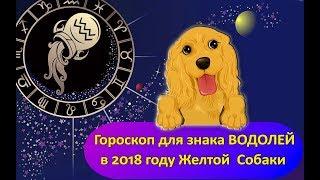 Гороскоп знака Зодиака ВОДОЛЕЙ на 2018 год Желтой Собаки