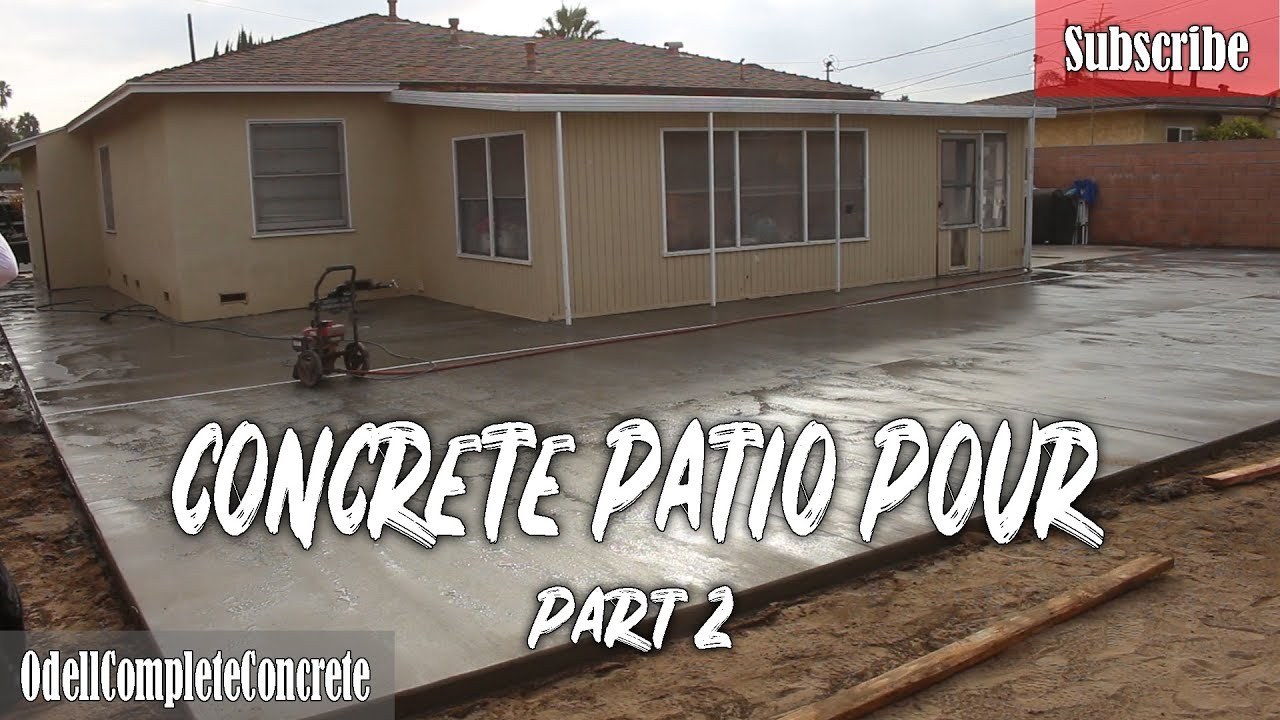 How to Pour a Concrete Patio with Channel Drain part 2
