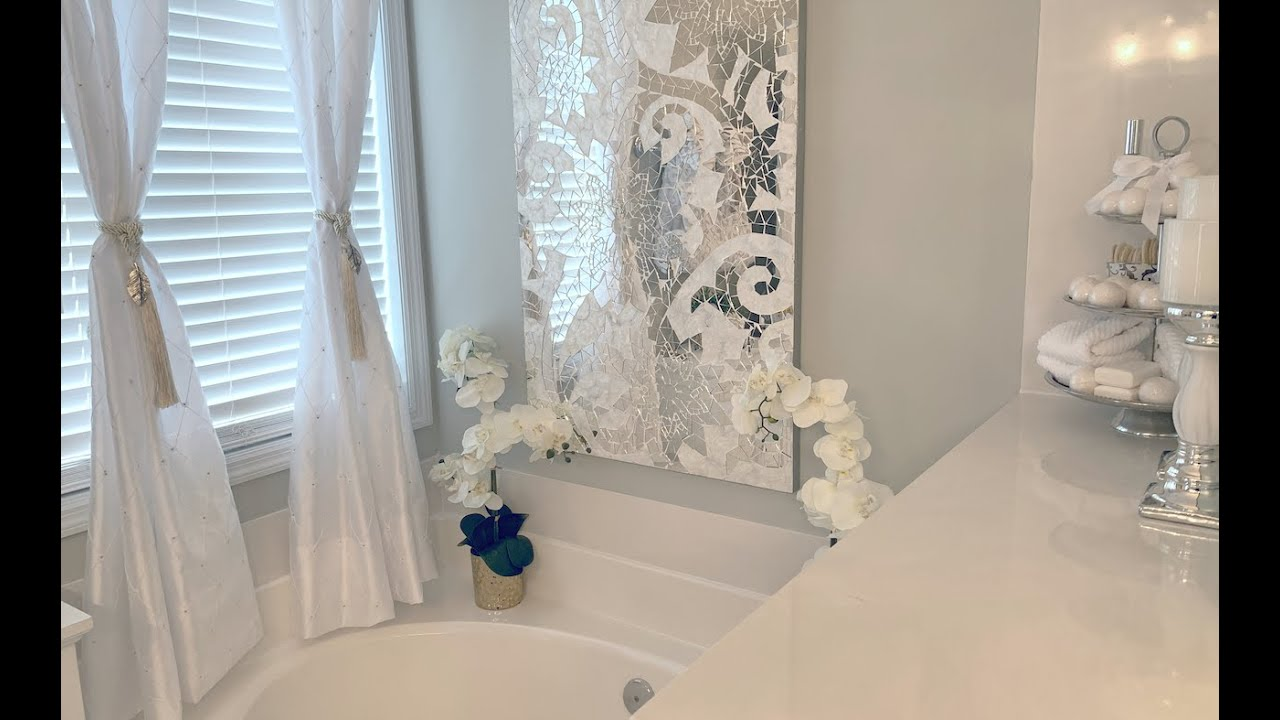 BATHROOM TUB/SHOWER AREA DECORATING IDEAS|DECORATE WITH ME