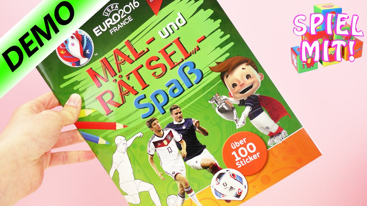 EM 2016 Fußball Malbuch Rätselheft Uefa Frankreich France für Kinder ...