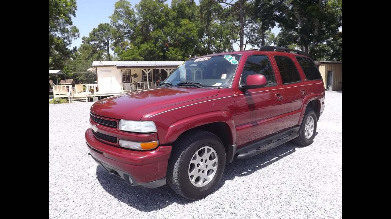 2004 CHEVROLET TAHOE Z71 4X4 FOR SALE LEISURE USED CARS 850 265