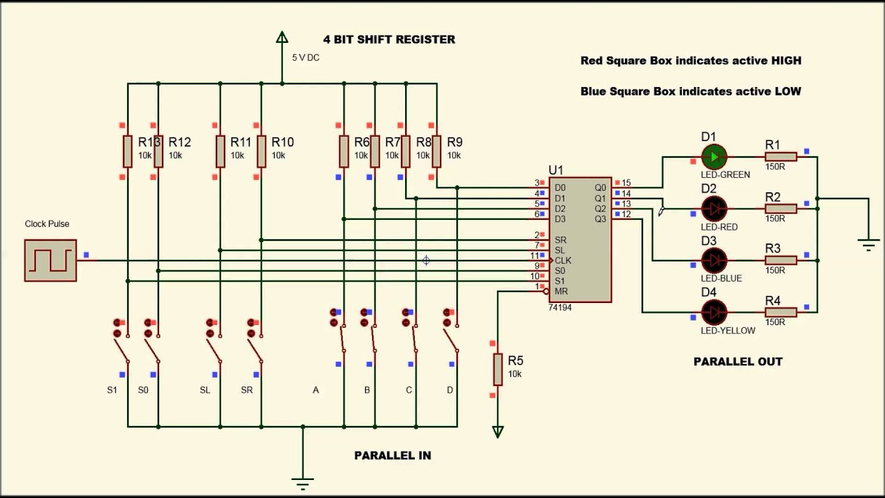 shift register with 74194 pipo youtube rh youtube com Bi-Directional Shift Register Examples Shift Register Inhibit