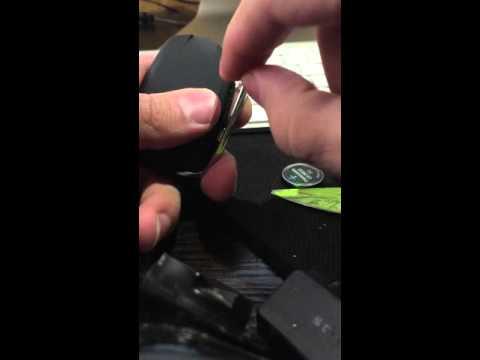 Cadillac замена батарейки на ключе