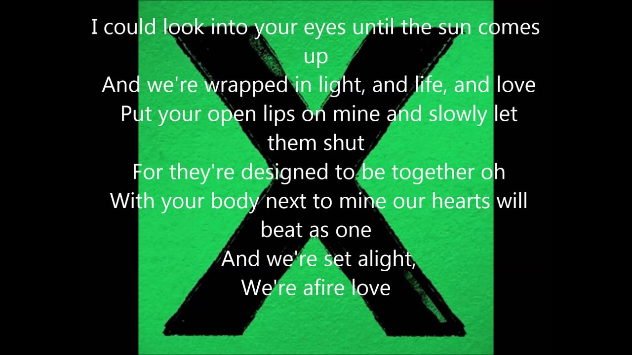 Ed Sheeran -Afire love (with lyrics) - YouTube