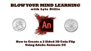 كيفية إنشاء 2 3D الوجهين الوجه عملة باستخدام أدوبي تحريك CC