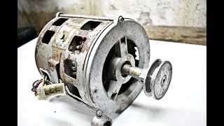DO NOT THROW THE OLD WASHING MACHINE MOTOR IN THE TRASH / DIY Powered Disc Sander