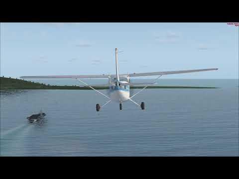 FSX - Cessna 172 landing in Nimitz-class aircraft carrier