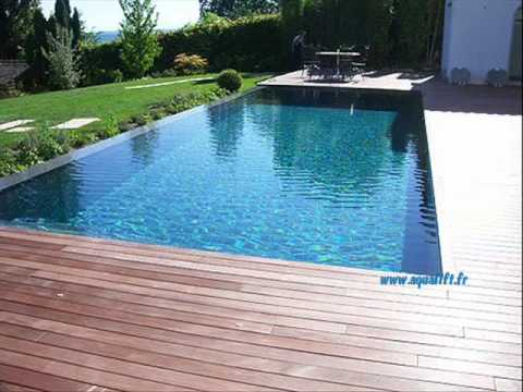 Aqualift piscine fond mobile intima lakeside mineral youtube for Piscine sol mobile