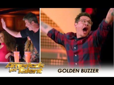 Michael Ketterer: Father Of 6 Earns SIMON COWELL GOLDEN BUZZER!! | America's Got Talent 2018