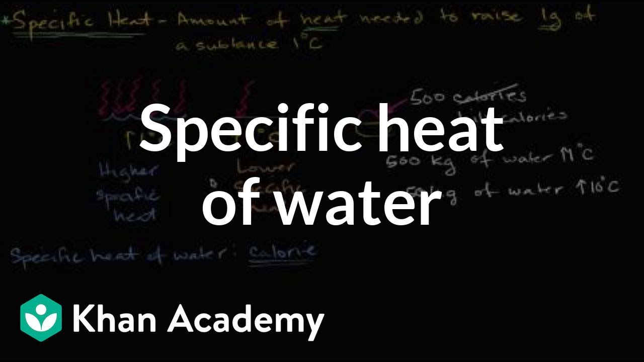 b17a8e57fda8 Specific heat of water (video) | Khan Academy