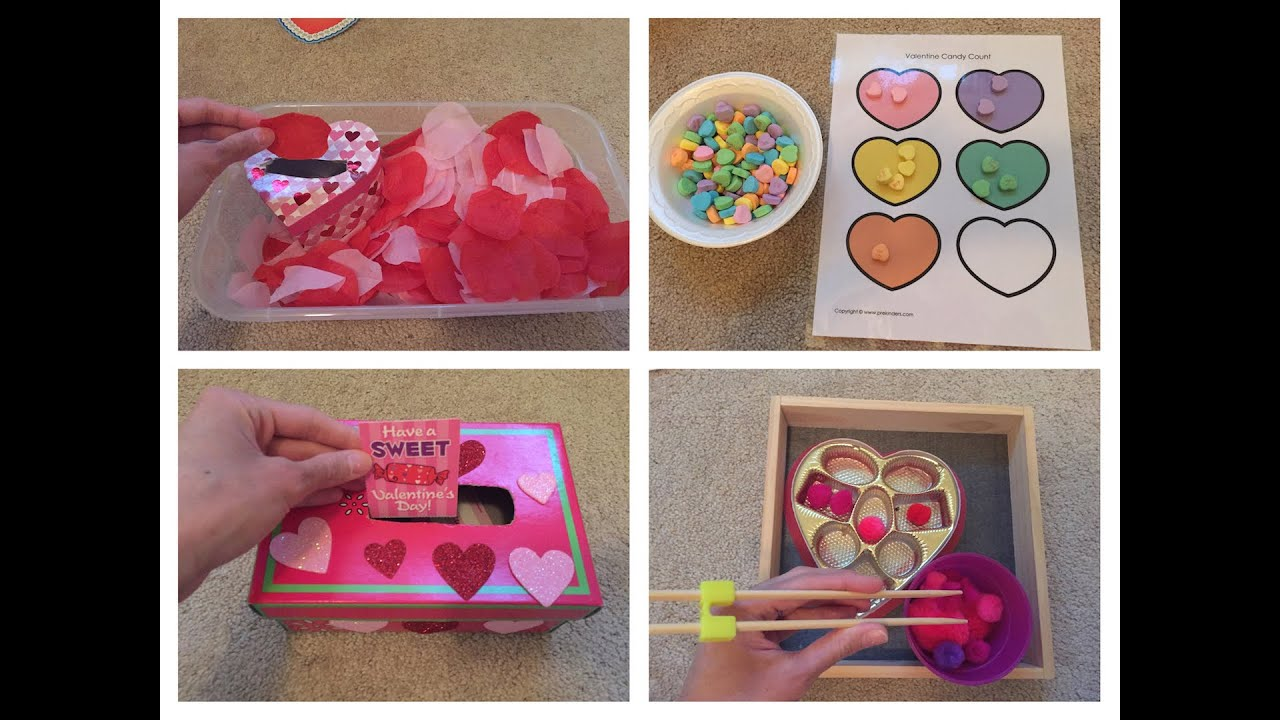 valentine's day activities for toddlers, preschool and kindergarten