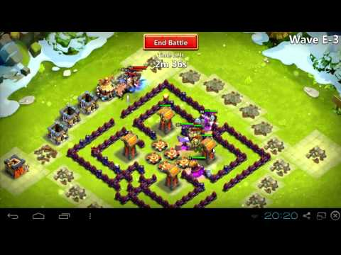 #018 HBM E - No Troops, No Garrison, Only Heroes - Maze Base - Castle Clash