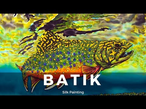 BATIK SILK PAINTING WITH JEAN-BAPTISTE – FINE ART – FISHING ONTARIO