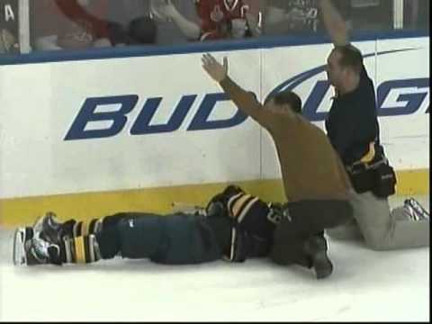 Niklas Hjalmarsson interferes and boards Jason Pominville from the blindside